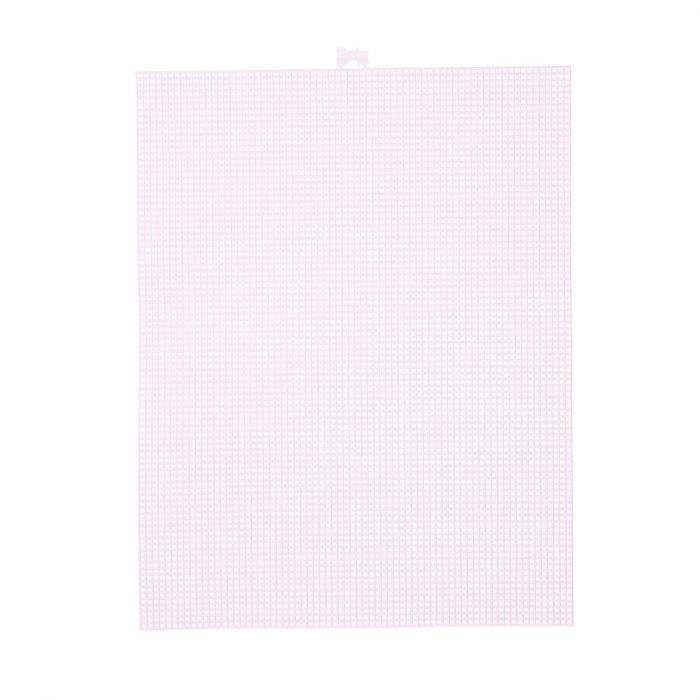 Darice • Plastic Stramien 26x34cm Licht Roze Mesh:7