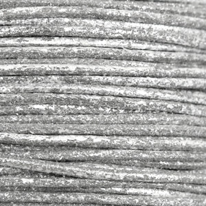 Waxkoord metallic 1.0mm Carbon grey