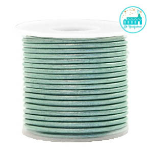 Round Leather String 1 mm Pastel Green
