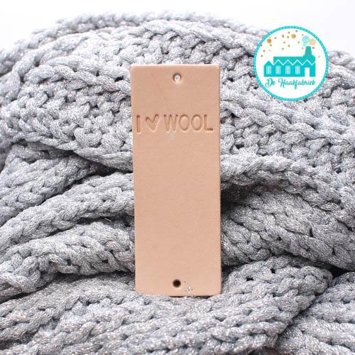 Big Labels 8 cm x 3 cm I Love Wool