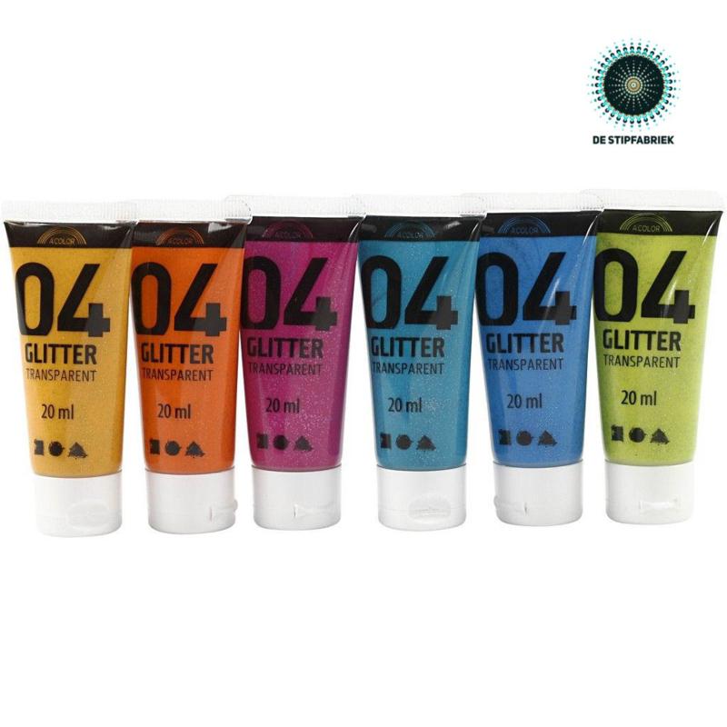 A-Color acrylverf GLITTER 01