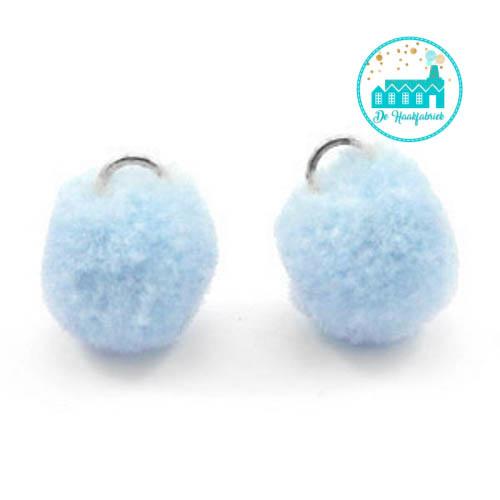 Mini Pompons 15 mm Light Blue