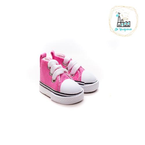 Sneakers voor Amigurumi Poppetjes Fuchsia
