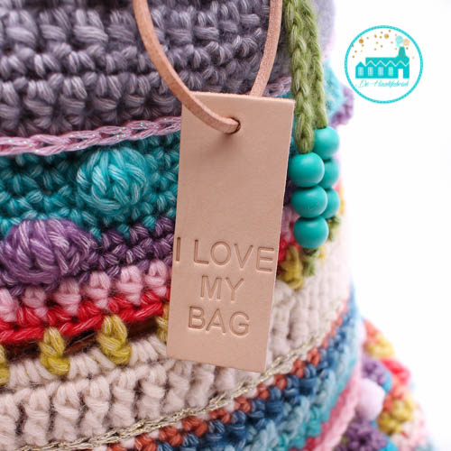 Big Labels 8 cm x 3 cm 'I LOVE MY BAG'