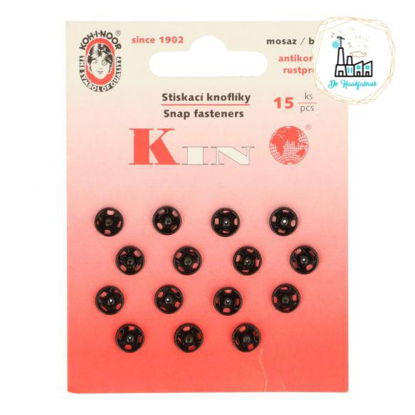 Drukknoopjes 9 MM zwart
