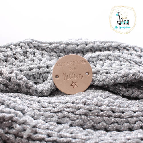 Rond leren label 3,5 cm You are one in a Million