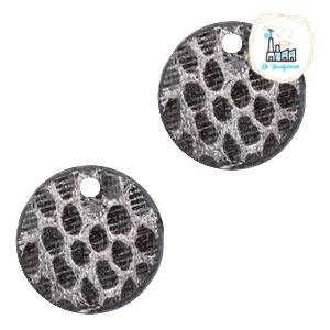 Mini Label Rond 17 MM snake Grey