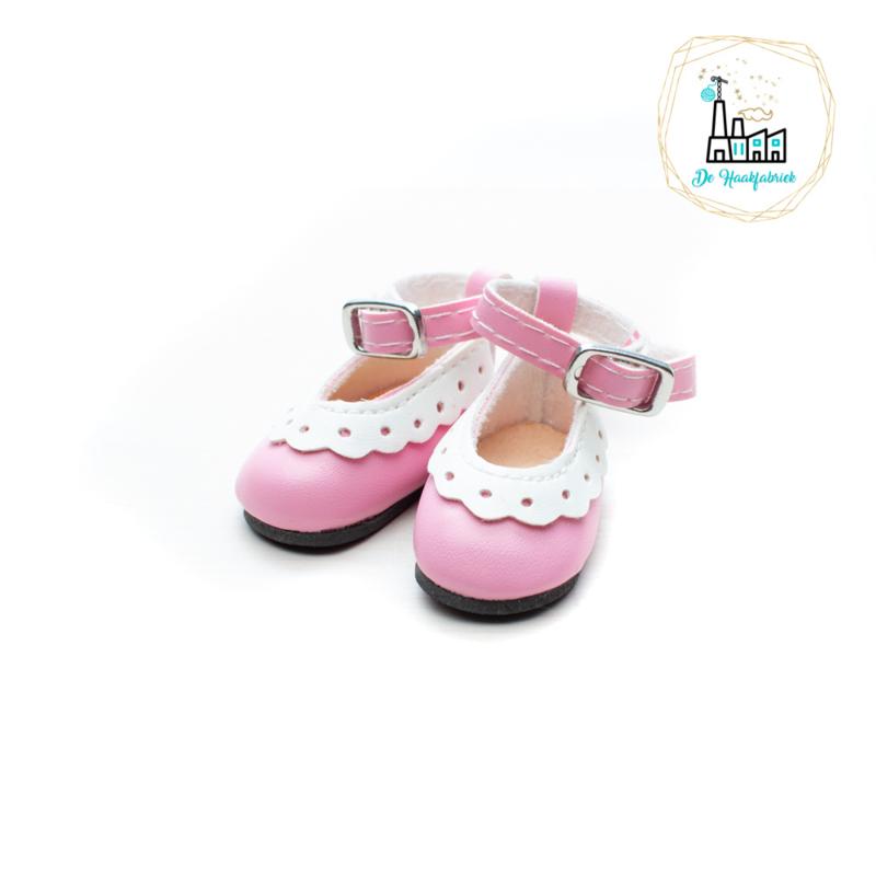 Schoentjes voor Amigurumi Poppetjes Roze met enkelbandje