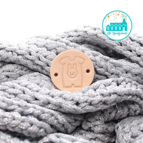 Ronde Leren label 3,5 cm Baby pakje