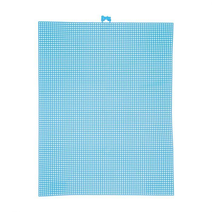 Darice • Plastic Stramien 26x34cm Neon Blauw Mesh:7