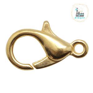 Karabijn slot 12 mm goudkleurig