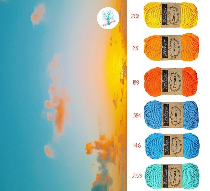 Color Combination Catona Cotton 08
