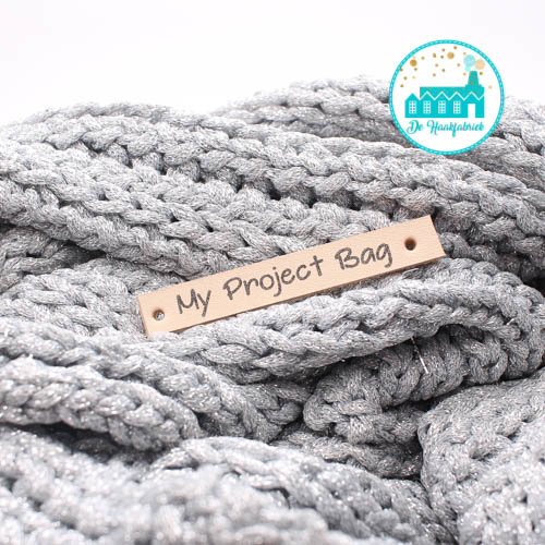 Leren Label My Project Bag Bedrukt