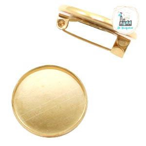 Brochespeldjes rond 20 mm Goud