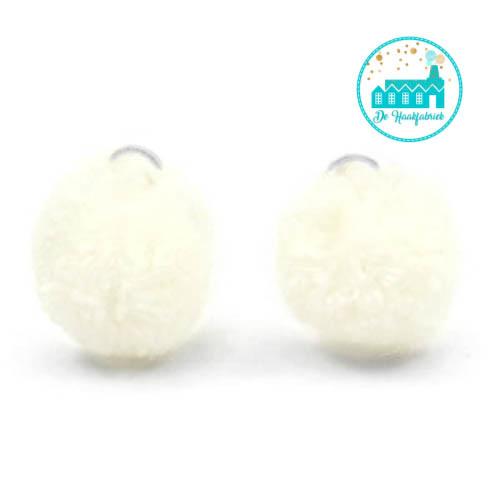 Mini Pompons 15 mm Cream
