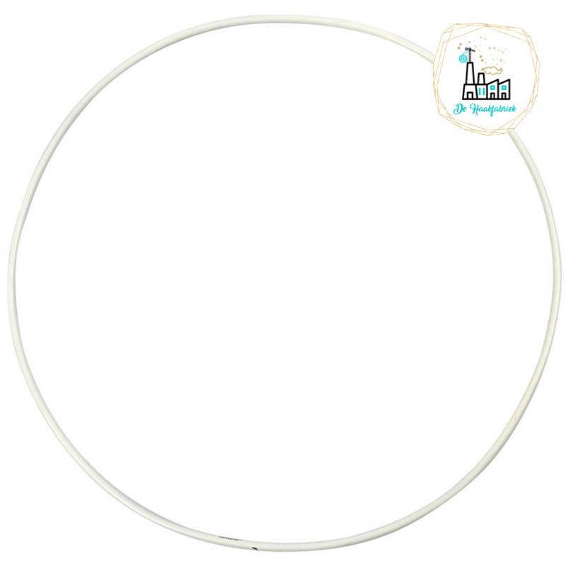 Metalen Ring 25 cm dikke kwaliteit Wit