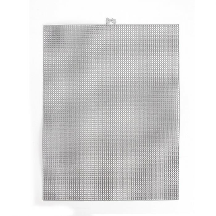 Darice • Plastic Stramien 26x34cm Silver Metallic Mesh:7