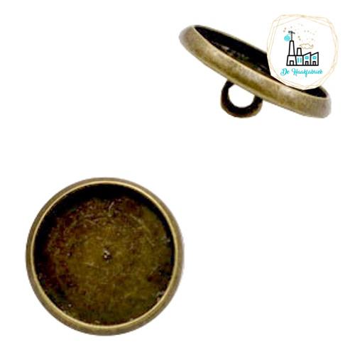 Settings knoopje metaal voor stipsteentjes 12mm Brons