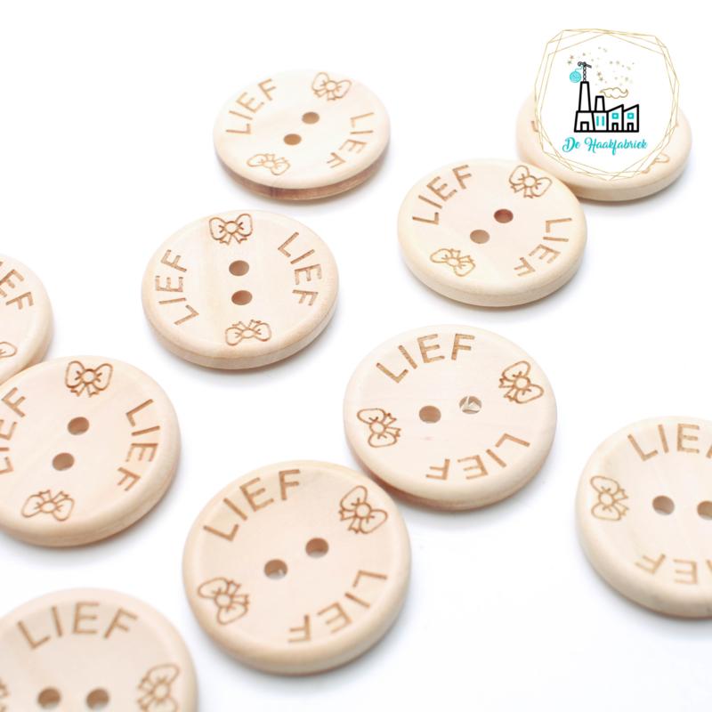 30 mm Houten Knoopjes Lief Design De Haakfabriek
