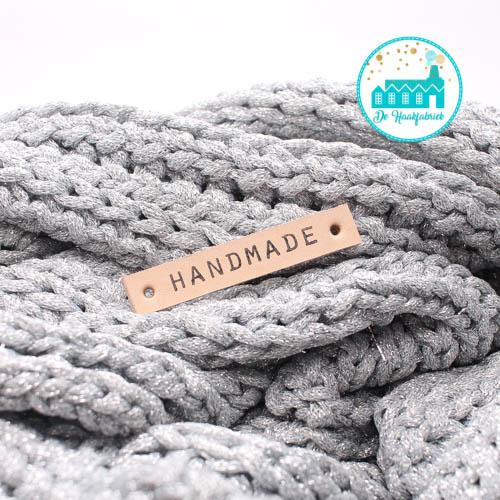 Handmade Leren Label strakke letter Bedrukt