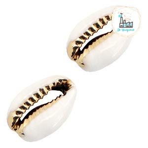 Schelp kralen specials Kauri White-gold