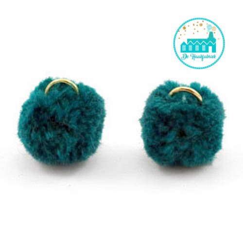 Mini Pompons 15 mm Dark Petrol