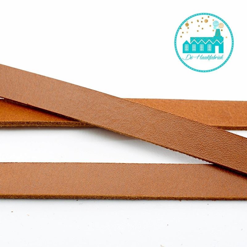 Cognac Leather 1 cm wide and approx. 110 cm