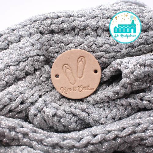 Ronde Leren label 3,5 cm Slippers Keep it Cool...