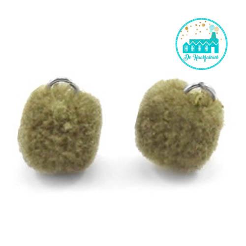 Mini Pompons 15 mm Olive