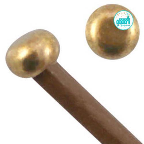 Metalen Eind Dopjes 4 mm goudkleurig