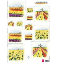 Bulb Fields Windmills - Knipvel