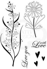 Rustic Hearts - Clearstamps