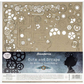 Lady and Gears - Chipboard