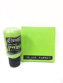 Island Parrot - Dylusions Paint Flip Cap Bottle
