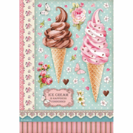 Ice Cream - Rijstpapier A4