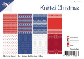 Knitted Christmas 12 sheets - A4