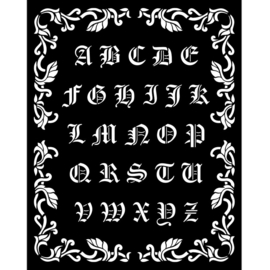 Sleeping Beauty Alphabet - Thick Stencil (0,25 mm)