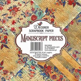 """Manuscript Pieces - 8x8"""""""