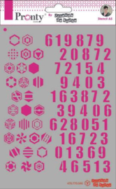 Mask Pattern Numbers - Stencil A5