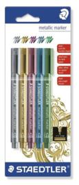Metallic Markers - Blister 5 kleuren