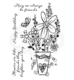 Millefiori Vase - Clearstamps
