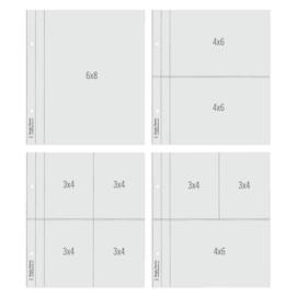 "Simple Stories SN@P! Flipbook Page Refills Multi - 6x8"""