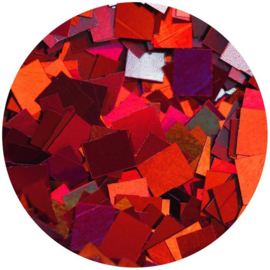 Pure Sheen Confetti - Ruby Red Squares