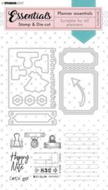 Grunge Planner Essentials nr 52 - Stamp & Die-cut
