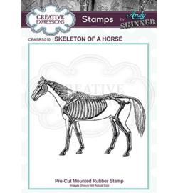 Skeleton of a Horse - Clingstamp