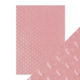 Embossed Papier - Blush Heartbeat Handmade
