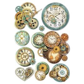 Gearwheels Clock - Rijstpapier A4