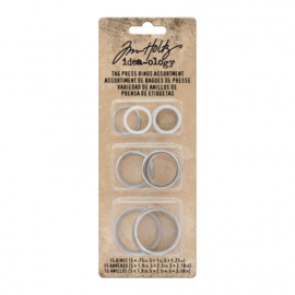 Tag Press Rings Assortment - 15 pack