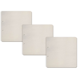 Set 3 Square Shaped - Chipboard Pages