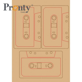 Retro Cassette bandjes - MDF A5